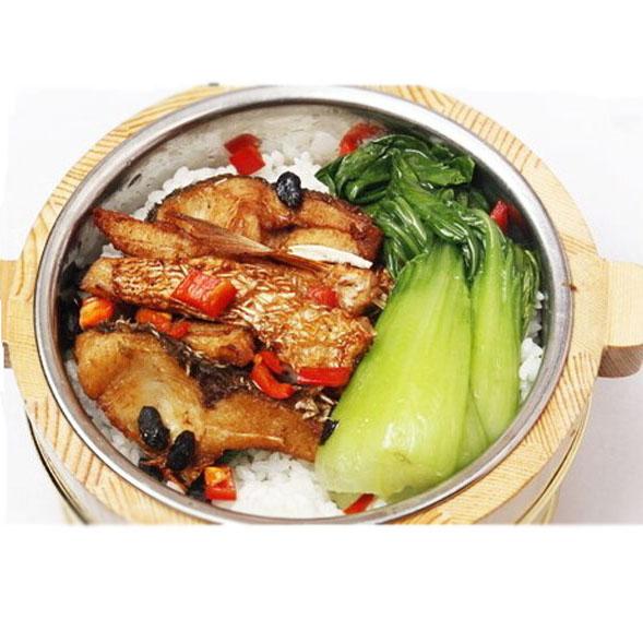 红烧鱼块 木桶饭